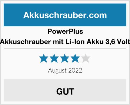PowerPlus Akkuschrauber mit Li-Ion Akku 3,6 Volt Test