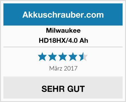 Milwaukee HD18HX/4.0 Ah Test
