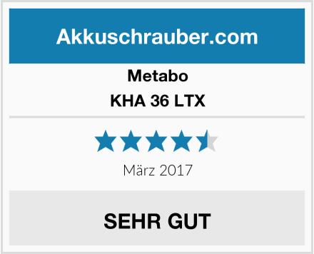 Metabo KHA 36 LTX Test