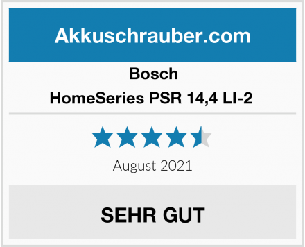 Bosch HomeSeries PSR 14,4 LI-2  Test