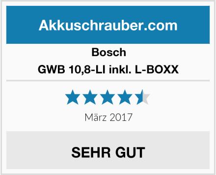 Bosch GWB 10,8-LI inkl. L-BOXX Test