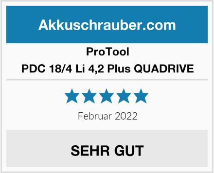 ProTool PDC 18/4 Li 4,2 Plus QUADRIVE Test