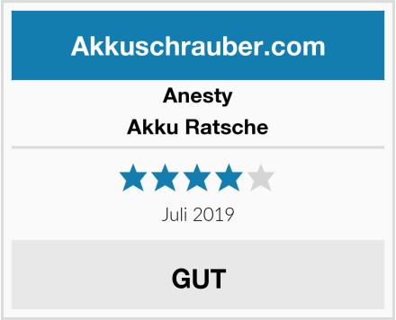 Anesty Akku Ratsche Test
