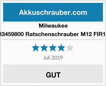 Milwaukee 4933459800 Ratschenschrauber M12 FIR12-0 Test