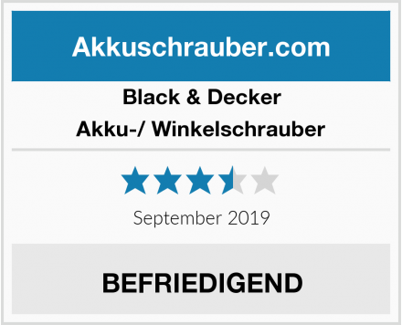 Black & Decker Akku-/ Winkelschrauber Test