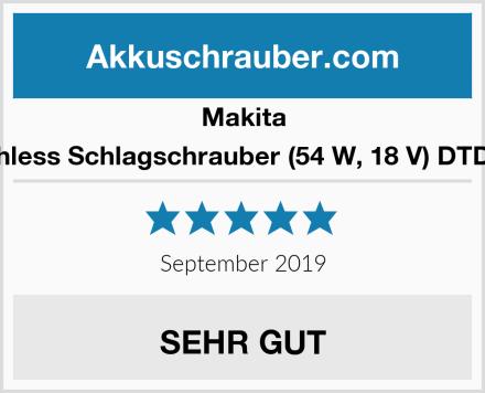 Makita Brushless Schlagschrauber (54 W, 18 V) DTD153Z Test