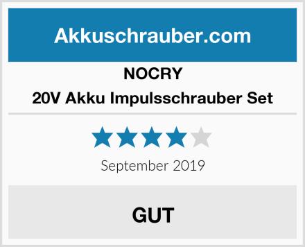 NOCRY 20V Akku Impulsschrauber Set Test