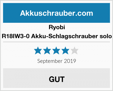 Ryobi R18IW3-0 Akku-Schlagschrauber solo Test