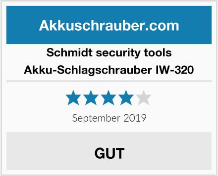 Schmidt security tools Akku-Schlagschrauber IW-320 Test