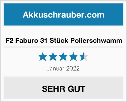 No Name F2 Faburo 31 Stück Polierschwamm Test