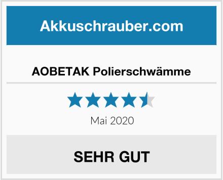 No Name AOBETAK Polierschwämme Test