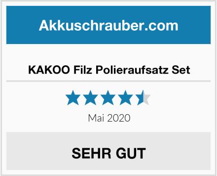 No Name KAKOO Filz Polieraufsatz Set Test