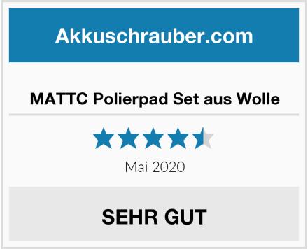 MATTC Polierpad Set aus Wolle Test