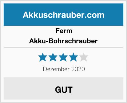 Ferm Akku-Bohrschrauber Test