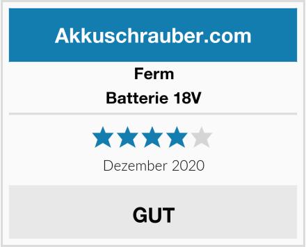 Ferm Batterie 18V Test