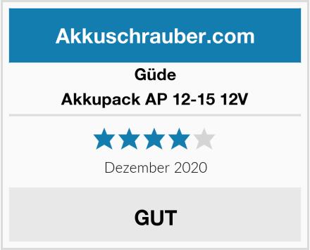 Güde Akkupack AP 12-15 12V Test