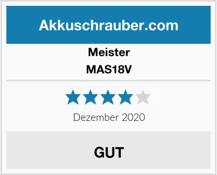 Meister MAS18V Test