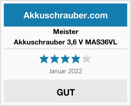Meister Akkuschrauber 3,6 V MAS36VL Test