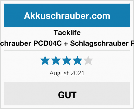 Tacklife Akkuschrauber PCD04C + Schlagschrauber PIB02B Test