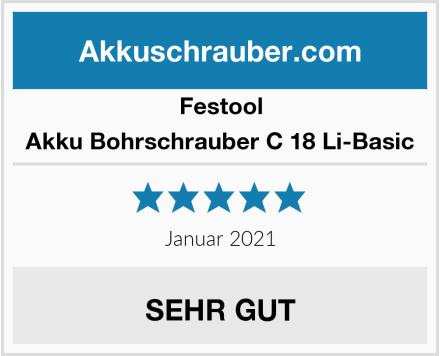Festool Akku Bohrschrauber C 18 Li-Basic Test