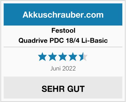 Festool Quadrive PDC 18/4 Li-Basic Test